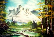 Our new creation: White mountain 11.8x15.75 inch (30*40 cm)