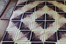 Вяжем пледы / Идеи вязаноого одеяла