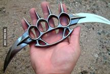Nože, zbraně