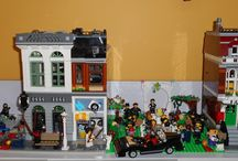 Lego Halloween 2017 / I had two Halloween Lego displays - one that was Halloween parties on main street, the other was the Zombie apocalypse on my smaller street display. I will confess about half of the zombies are not branded Lego, but as Lego only makes a few zombie figures, I made do with others.