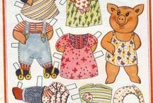 Paper dolls/animals