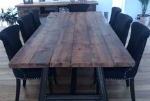 Industrial style table dining