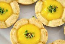 muffinde limon kremalı çicek kurabiye
