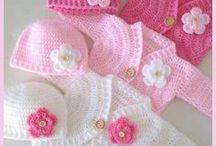 moldes y tejido para bebé en crochet
