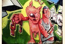 Graffiti Münster 2000 / Hawerkamp in Münster, town in Germany