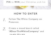 #DearTheWhiteCompany / We're making your Christmas dreams come true! To win your Christmas Wish List from The White Company, simply:  1. Follow The White Company on Pinterest. 2. Repin the pin below to a new board called '#DearTheWhiteCompany'. 3. Visit our Christmas Shop online and pin a minimum of 5 things that you would like The White Company to treat you to this Christmas*. 4. Share you board with us by posting a link under our original pin.  *T&Cs apply. Good luck.