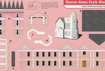 papír épületek