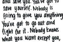 Inspiring quotes  / Uplifting advice