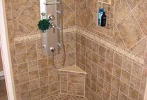 bathroom tile / by Julie Sitzler
