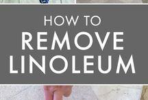 How to remove linoleum