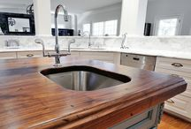 Heritage Wood Countertops / Heritage Wood is offered in more than 30 unique color options – classic, exotic and even reclaimed wood countertops. A unique aspect of natural wood is the fact that the color of the surface changes over time. This color change is caused by the wood's exposure to light and air (oxidation) and will vary by species.