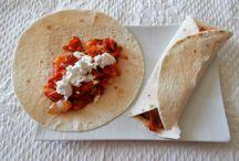 Tacos au chèvre frais