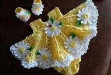 sarı papatya elbise