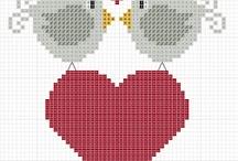 Punto croce / Schema uccellini