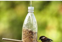 Bird feeders for kids / DIY bird feeders that are easy for kids to make.  Attract birds to you backyard and have fun exploring nature.