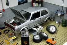cars models and diorama