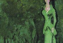 зеленый in green