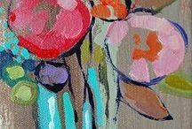 schilderijen van bloemen