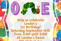 1st Birthday Hungry Caterpillar / by Laurie Johnson