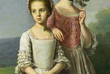 Children on portraits