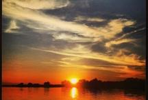 Namibia Sunset / Sunset taken at Hakusembe River Lodge!