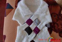 Sjaal vlechtwerk, wordt trui