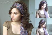 Boucles & accessoires / Barrettes, headbands, bandeaux, foulards, serre-têtes, fleurs, noeuds, strass... : idées pour accessoiriser ses coiffures et ses boucles !