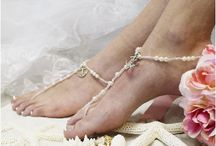 Barefoot Sandals to Fall in Love with! / Dreamy beautiful barefoot Sandals for your beach wedding, a gorgeous collection of elegant bridal foot jewelry to swoon over. Fall in love with our new collection of gold barefoot sandals.  In stock for quick shipping. As perfect as true love's first kiss...