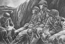 Tegninger-plakater krigen