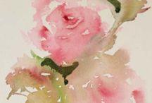 Bloemen in aquarel