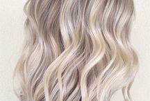 Blonde platinum balayage