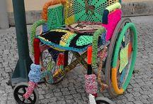 Yarnbombed Wheelchairs