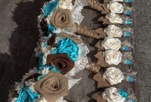 Teal and Brown Wedding