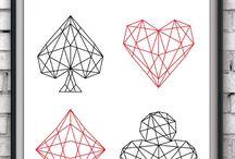 Elephants and geometric shapes