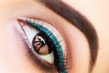 Green eyeliner / Make up