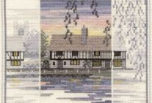 landscape in crossstitch
