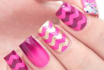 ombre nail art<3