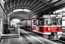 Trein Muurposter Fotobehang