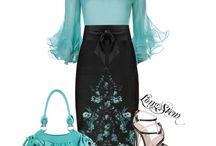 Красивые комплекты одежды.