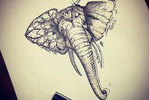 Эскиз слона