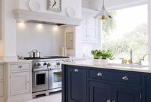 Luxury Kitchens - Tom Howley Blue Painted Kitchen / Be inspired - style and luxury for the family home | Tom Howley | Blue Painted Contemporary Shaker Kitchen