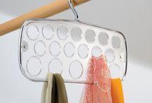 Хранение аксессуаров / Вешалки для платков, галстуков, ремней, держатели для сумок, крючки, органайзеры для аксессуаров