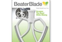BeaterBlade / The mixing blade that does it all: Scraping the sides of the bowl as it perfectly combines your ingredients. Different sizes available to fit in your KitchenAid®, Cuisinart™, Viking® or Kenwood® stand mixer.