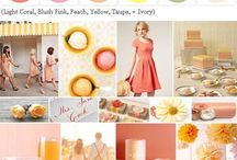 Citrus Wedding Inspiration / colors: yellow, orange, green / by Ju.Lee Collection