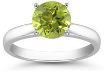 Peridot Jewelry and Rings / by ApplesofGold.com