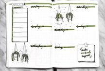 Week log bullet journal