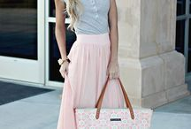 Maxi skirt for office outfit