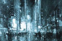 Aún en el corazón de la urbe / Mientras la ciudad calla o prosigue...