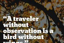 Travel Quotes. / Inspirational and wonderful travel related quotes to get you yearning to travel.