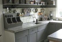 keukenmuur verven en plank